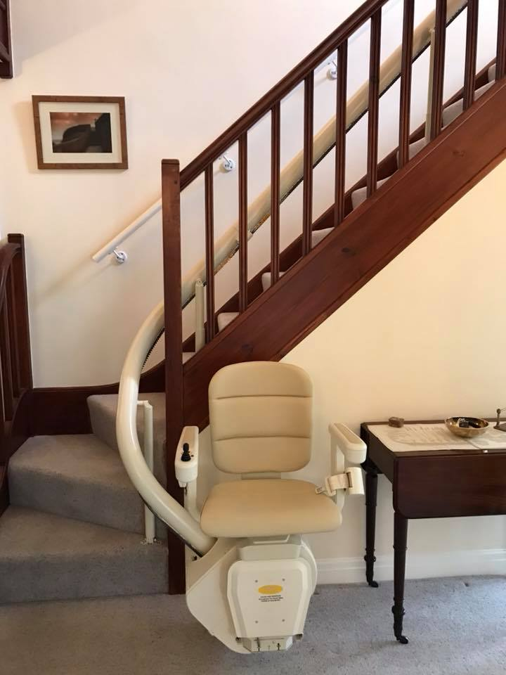 DMA curved stairlift downstairs